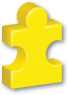 yellow autism puzzle piece