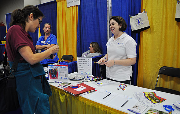 Melanie Hasenstab, ASK President, at Autism Society of Kentuckiana Booth